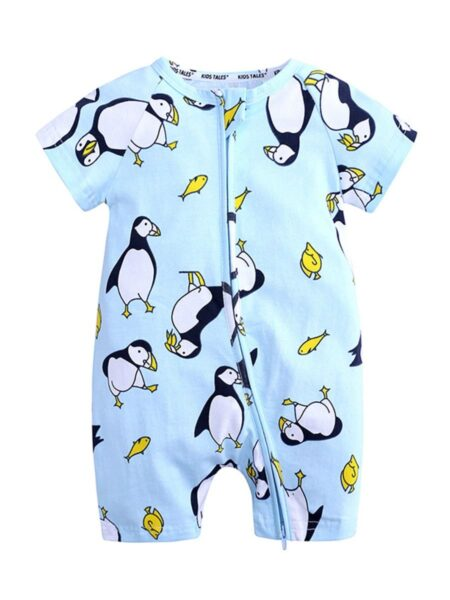 Print Zipper Romper For Baby Wholesale