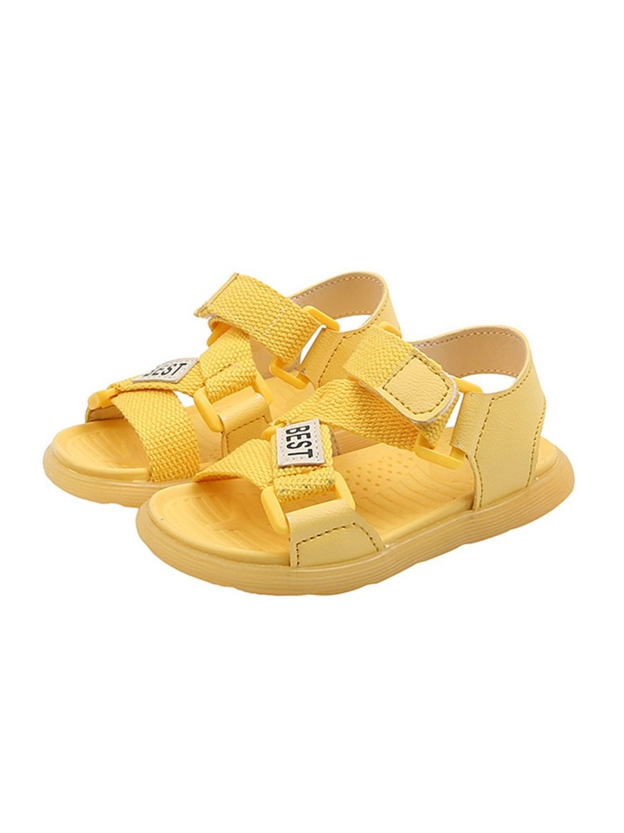 Little Girl Solid Color Woven Sandals Wholesale 17