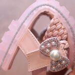 Little Girl Solid Color Woven Sandals Wholesale 9