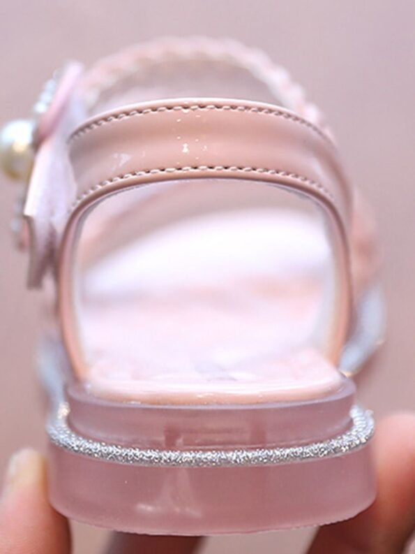 Little Girl Solid Color Woven Sandals Wholesale 15