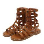 Kid Girl Solid Color Gladiator Sandals Wholesale 3