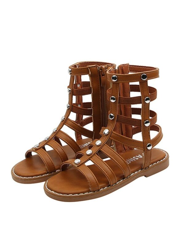 Kid Girl Solid Color Gladiator Sandals Wholesale 11