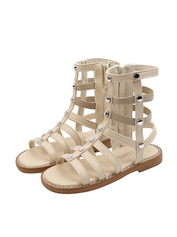 Kid Girl Solid Color Gladiator Sandals Wholesale 12