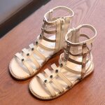 Kid Girl Solid Color Gladiator Sandals Wholesale 5