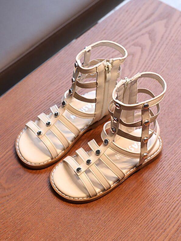 Kid Girl Solid Color Gladiator Sandals Wholesale 13