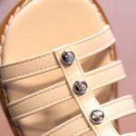 Kid Girl Solid Color Gladiator Sandals Wholesale 8