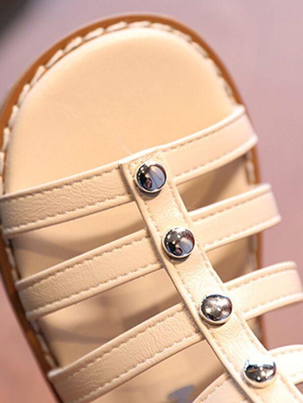 Kid Girl Solid Color Gladiator Sandals Wholesale 16