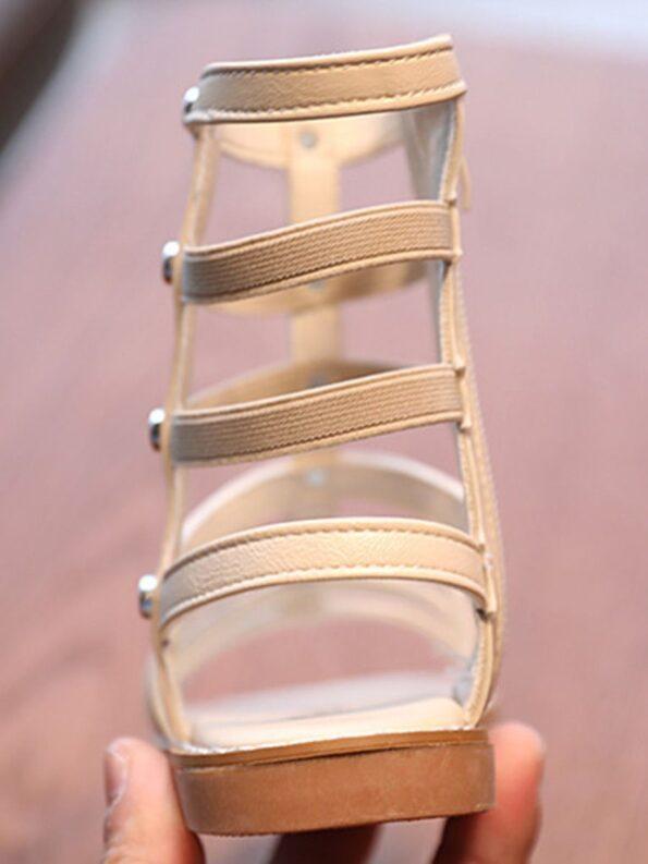 Kid Girl Solid Color Gladiator Sandals Wholesale 18