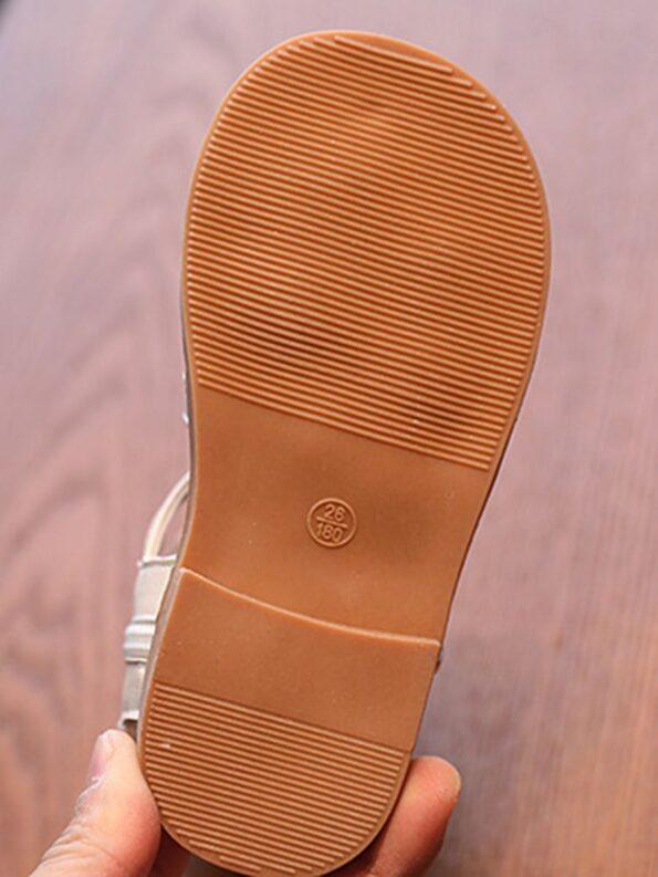 Kid Girl Solid Color Gladiator Sandals Wholesale 14