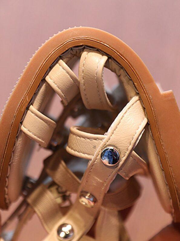 Kid Girl Solid Color Gladiator Sandals Wholesale 15