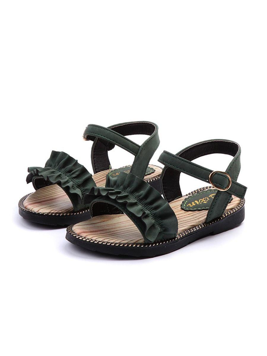 Kid Girl Solid Color Gladiator Sandals Wholesale 19
