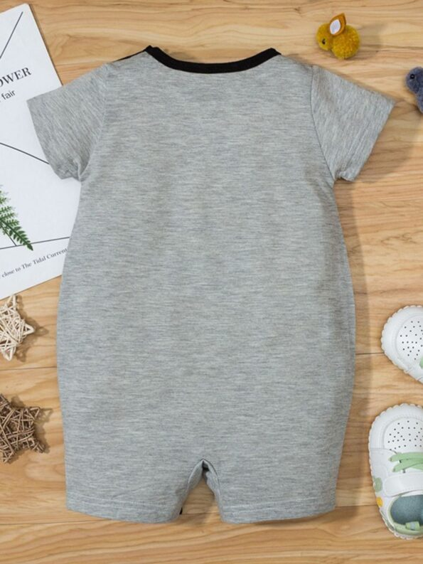 Bear Love Heart Print Baby Jumpsuit 8