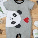 Bear Love Heart Print Baby Jumpsuit 7