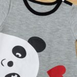 Bear Love Heart Print Baby Jumpsuit 6
