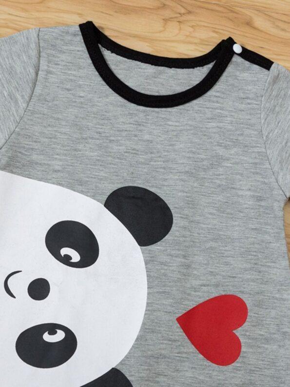 Bear Love Heart Print Baby Jumpsuit 11