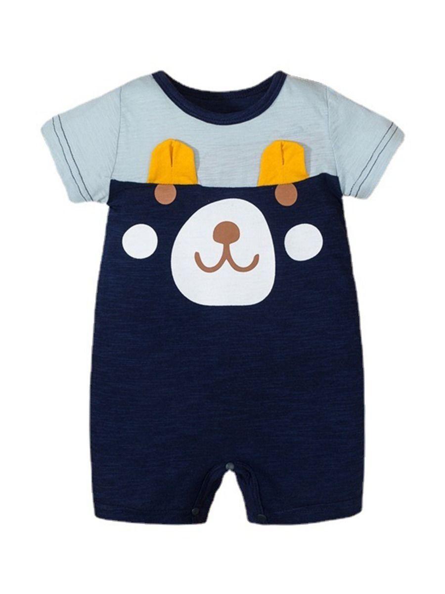 Bear Love Heart Print Baby Jumpsuit 13
