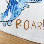 Dinosaur Print Pajama Set For Boys Top With Shorts 6