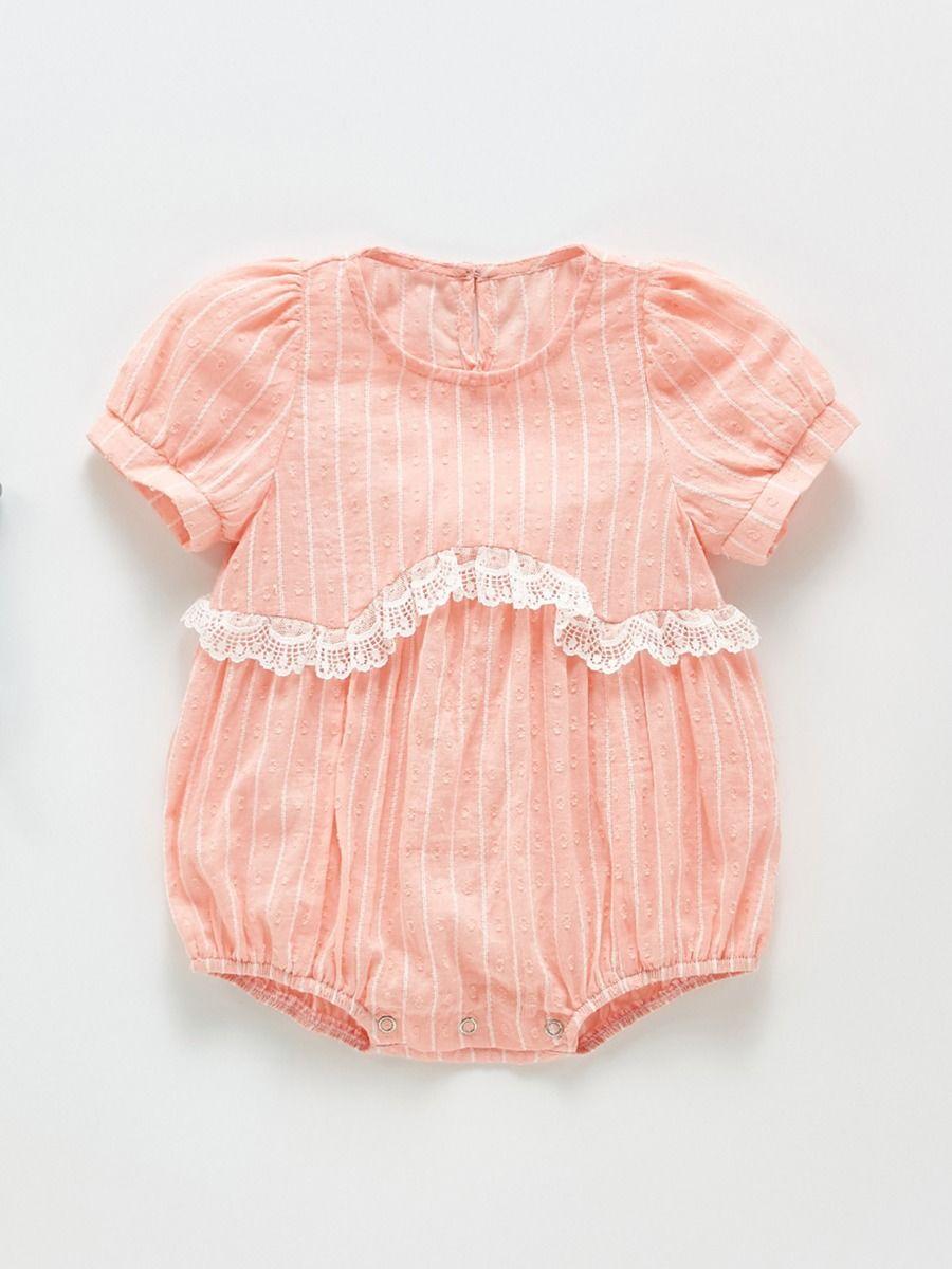 Love Heart Print Flutter Sleeve Wholesale Baby Rompers For Girls BABIES Girls