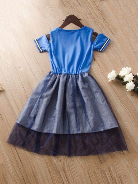 Big Girl Cold Shoulder Letter Dress 2