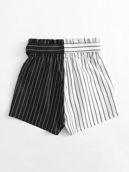 Big Girls Color Blocking Stripe Shorts  Wholesale 2