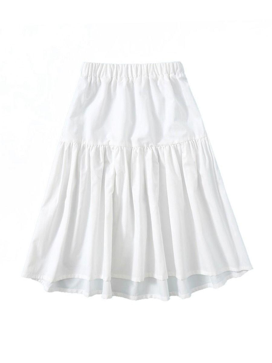 Big Girls A line White Skirt Wholesale