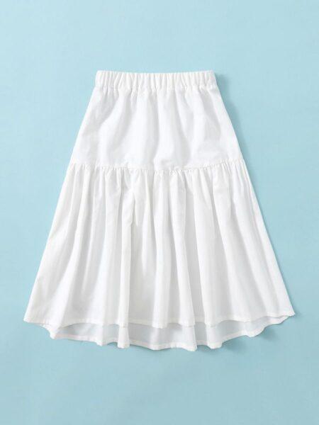 Big Girls A line White Skirt Wholesale 2
