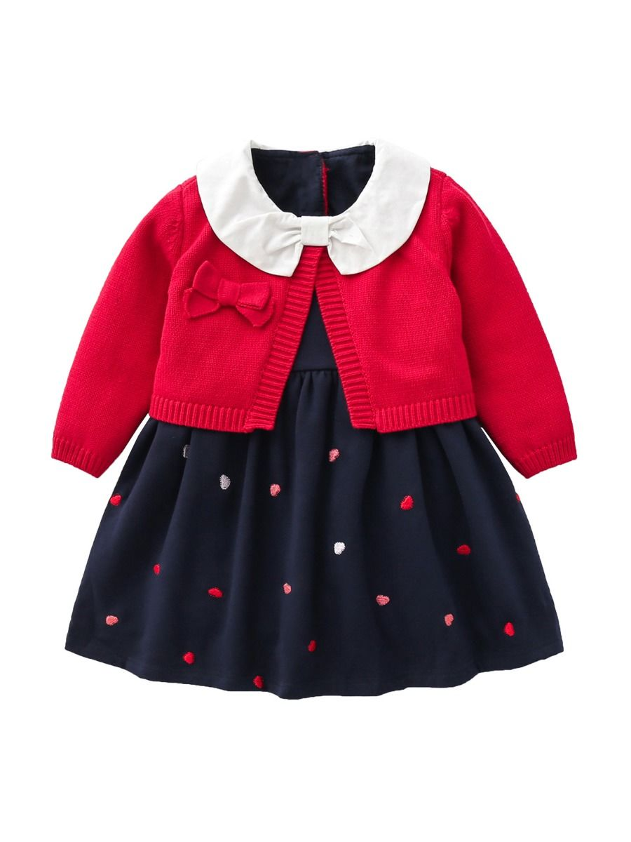 Solid Color Button Knitting Cardigan For Baby  Wholesale 18