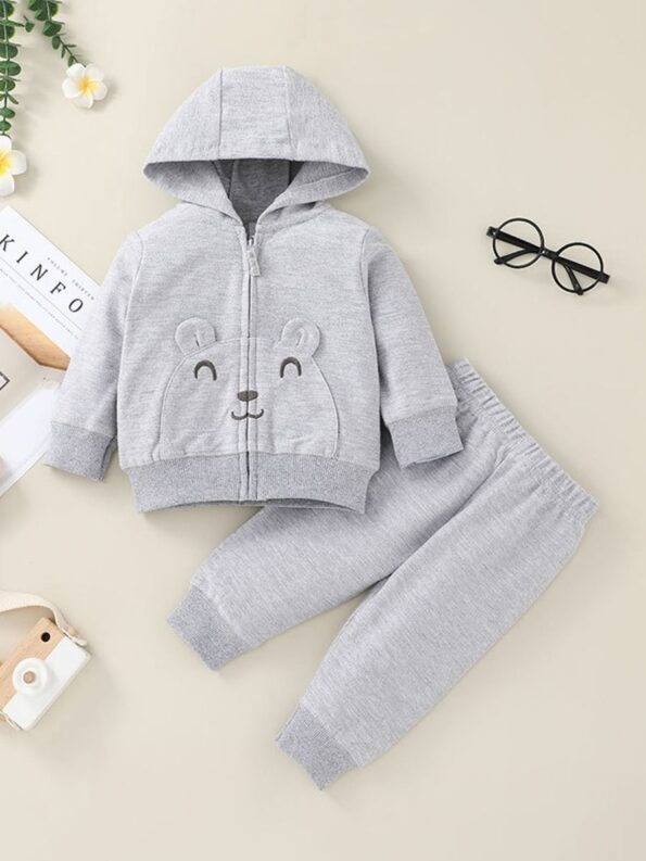wo Pieces Cartoon Baby Girl Outfit Sets Hoodie And Pants  Wholesale 7