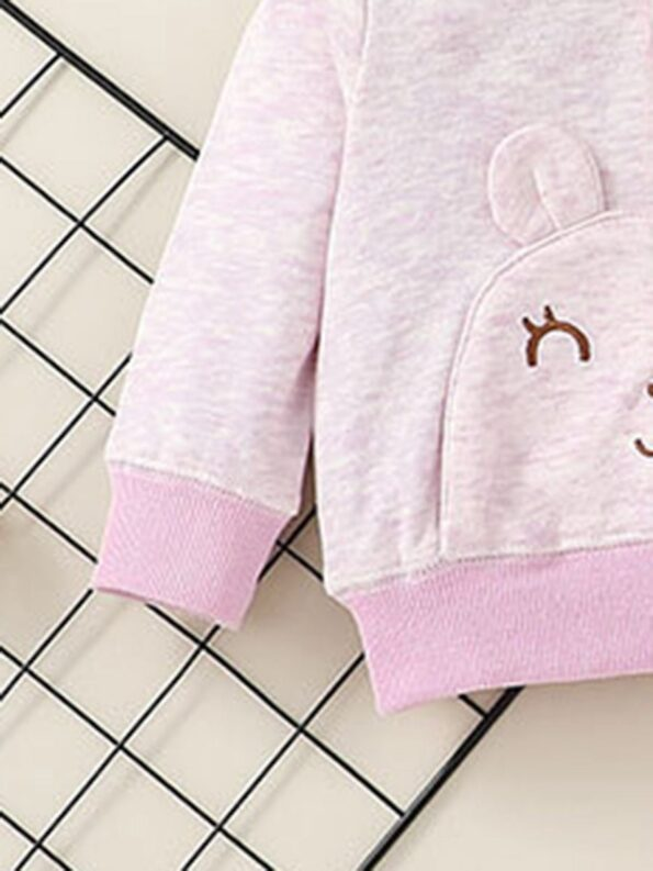 wo Pieces Cartoon Baby Girl Outfit Sets Hoodie And Pants  Wholesale 9