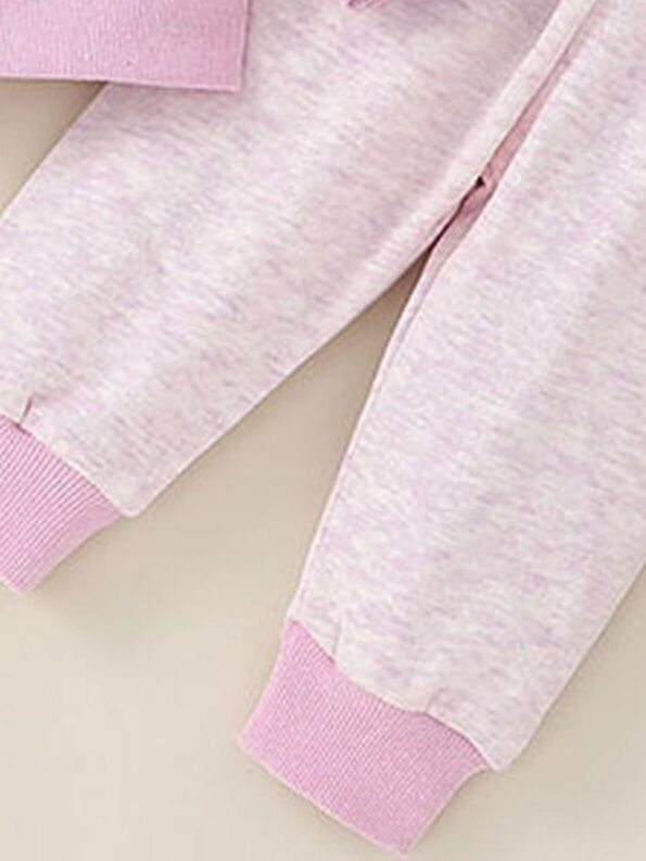 wo Pieces Cartoon Baby Girl Outfit Sets Hoodie And Pants  Wholesale 10