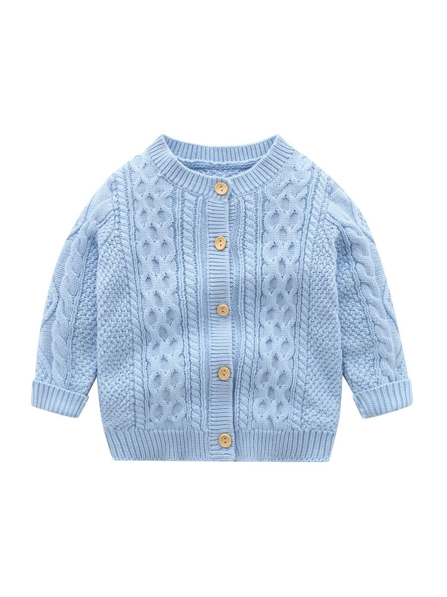 Solid Color Button Knitting Cardigan For Baby  Wholesale 2