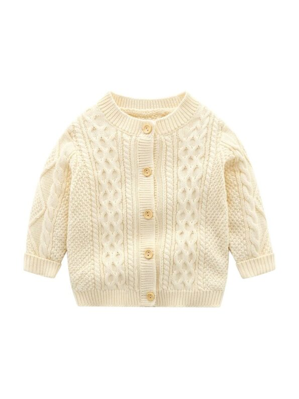 Solid Color Button Knitting Cardigan For Baby  Wholesale 12