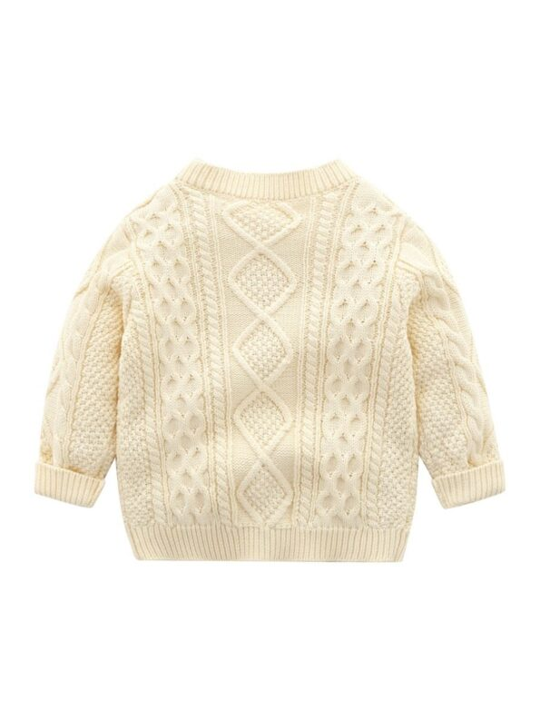 Solid Color Button Knitting Cardigan For Baby  Wholesale 13