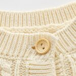 Solid Color Button Knitting Cardigan For Baby  Wholesale 7