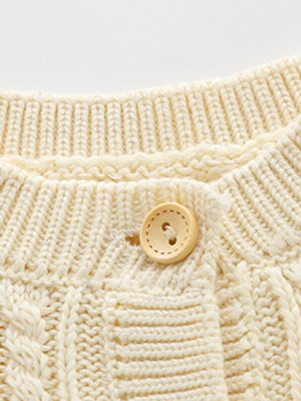 Solid Color Button Knitting Cardigan For Baby  Wholesale 14
