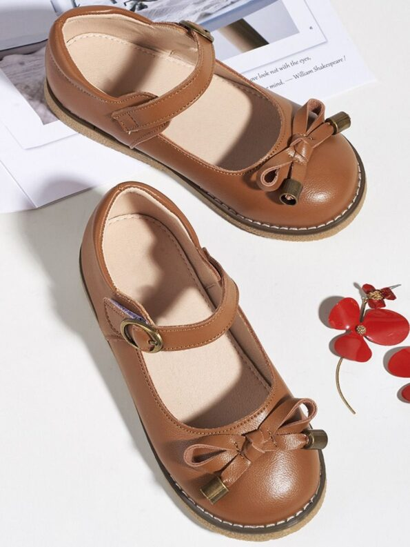 Toddler Kid Girl Party Shoes With Bowknot  Wholesale 7
