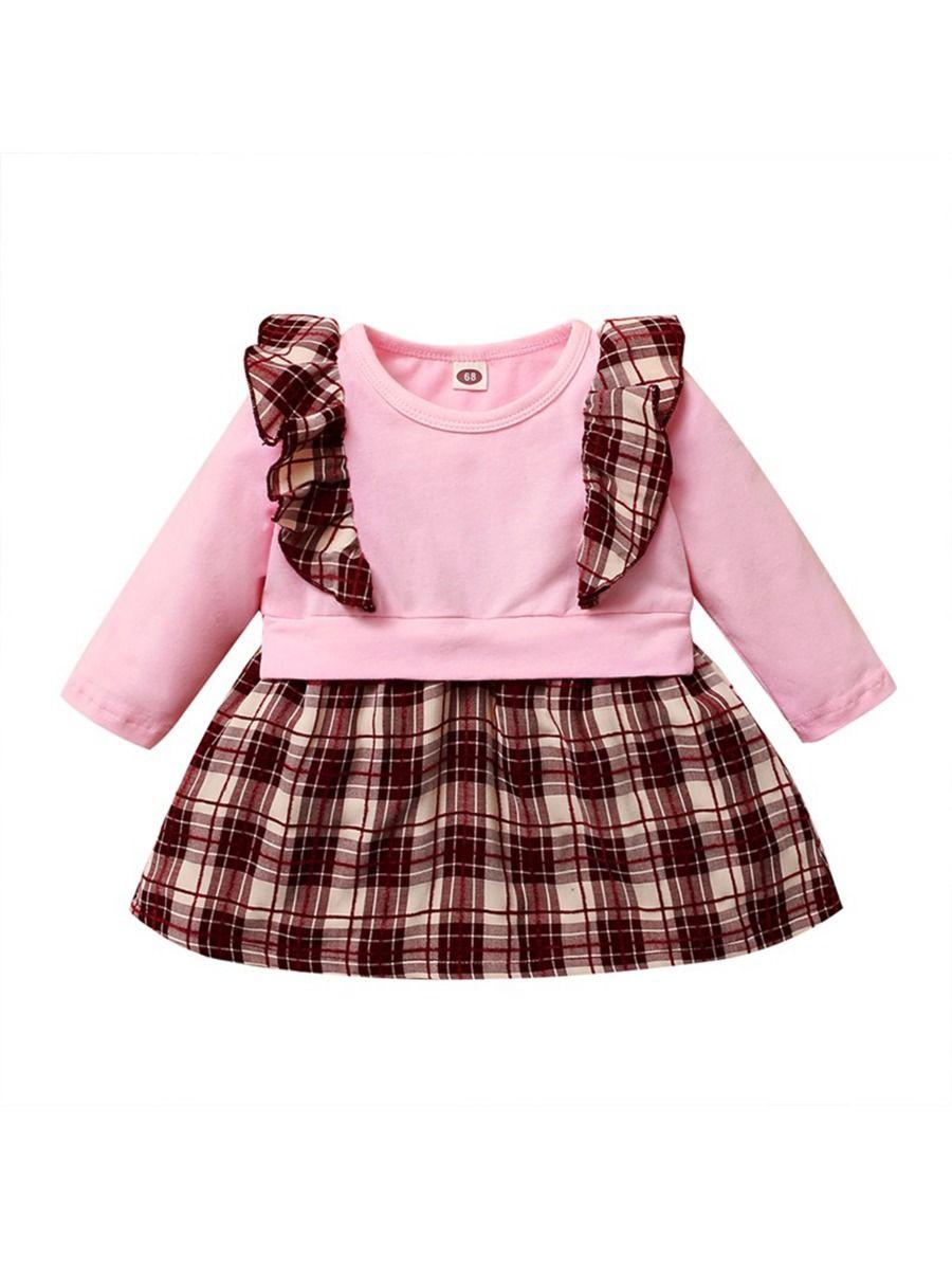 Corduroy Leopard Print Baby Girl Dress 13