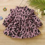 Corduroy Leopard Print Baby Girl Dress 3