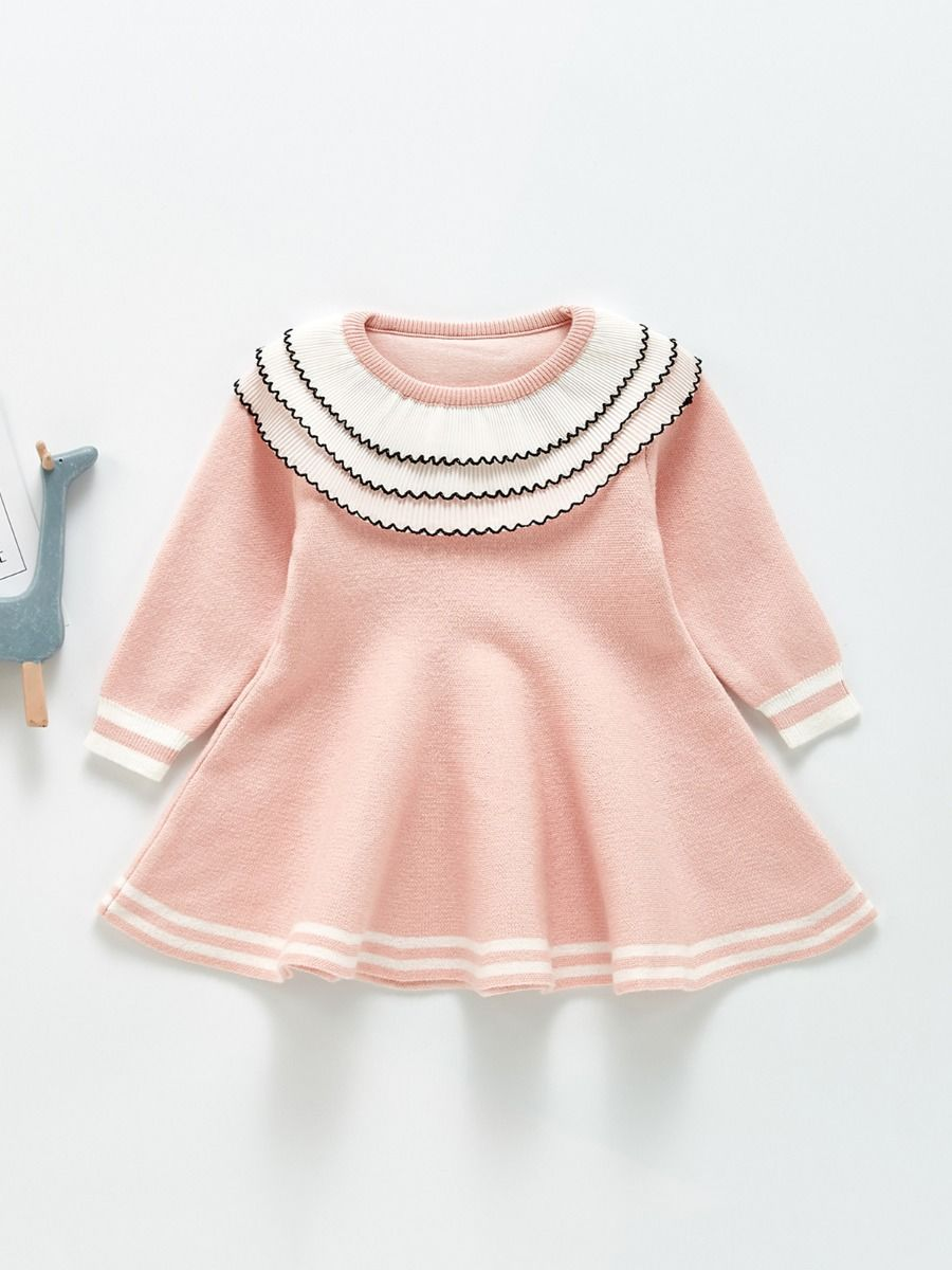 Ruffle Trim Knitted Baby Cardigan BABIES Girls