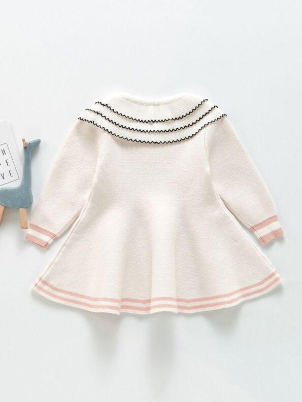 Frilled Layered-Collar Baby Girl Dress 11