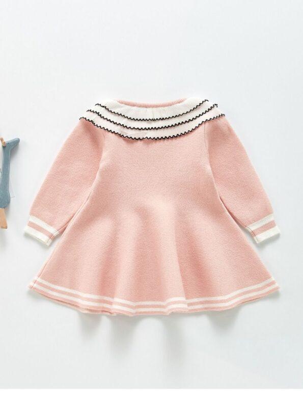 Frilled Layered-Collar Baby Girl Dress 13