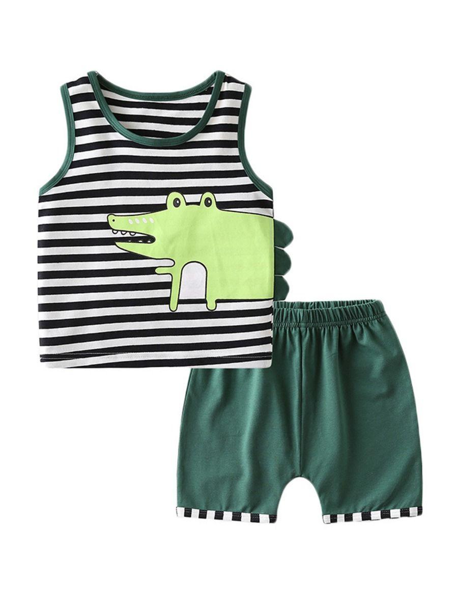 Crocodile Print Infant Boy Jumpsuit BABIES Boys