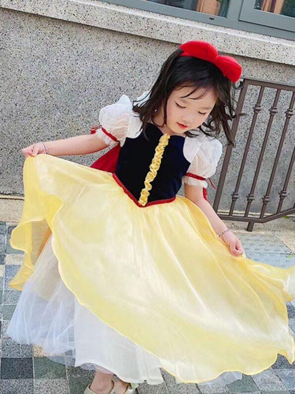 Princess Cosplay Party Kid Girl Mesh Dress  Wholesale 9