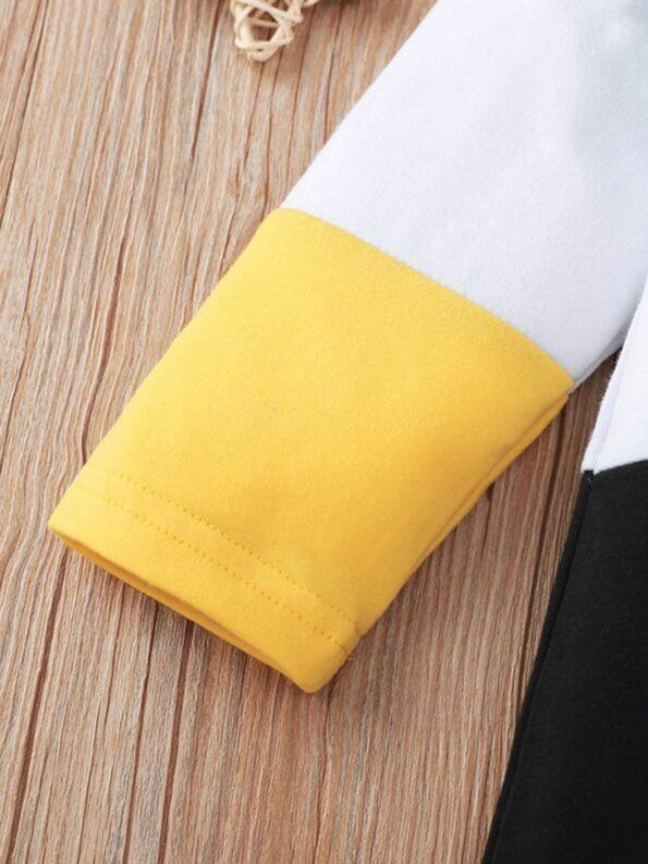 Color Blocking Letter Print Baby Boy Jumpsuit 10