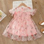 Kid Girl Organza Flower Dress 3
