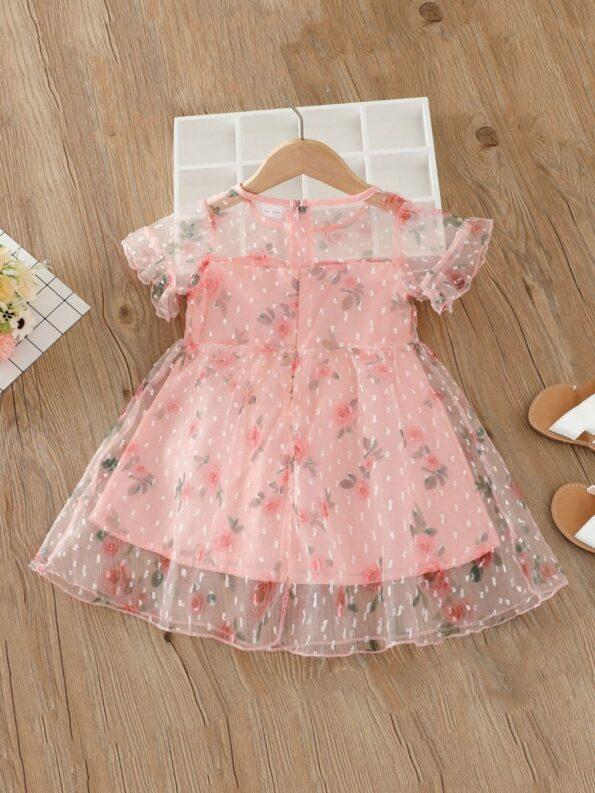 Kid Girl Organza Flower Dress 7