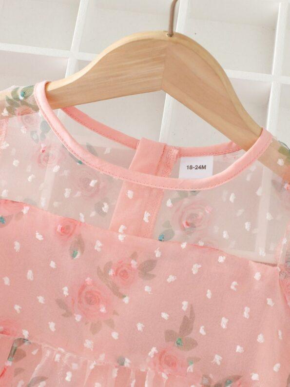 Kid Girl Organza Flower Dress 10