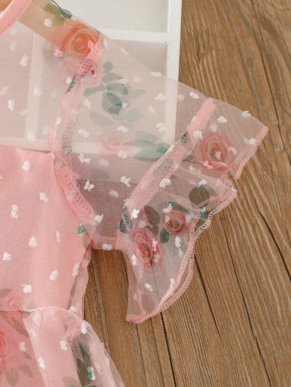 Kid Girl Organza Flower Dress 9