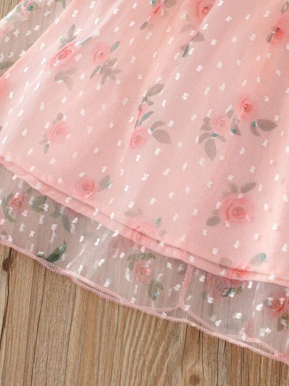 Kid Girl Organza Flower Dress 8