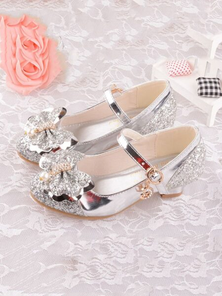 Kid Girl Bow Sequins Shoes  Wholesale 2